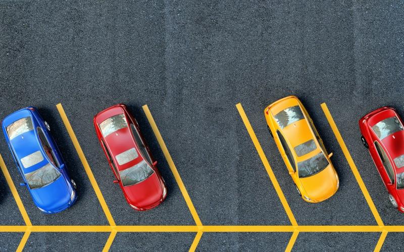 Les places de parking